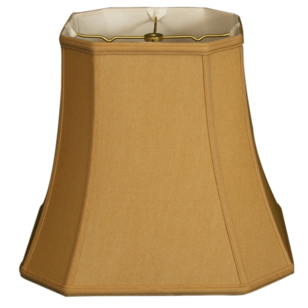 Royal Designs Square Cut Corner Basic Lamp Shade, Antique Gold, 9.5 x 15 x 13.5