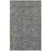 Slate Boucle Blue/Grey Wool Handcrafted Area Rug - 5' x 8'