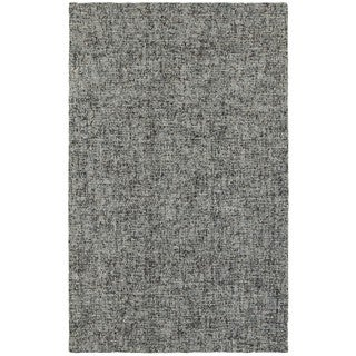 Slate Boucle Blue/Grey Wool Handcrafted Area Rug - 5' x 8'
