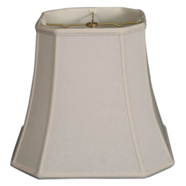Royal Designs Square Cut Corner Basic Lamp Shade, Linen White, 8 x 12 x 11.5