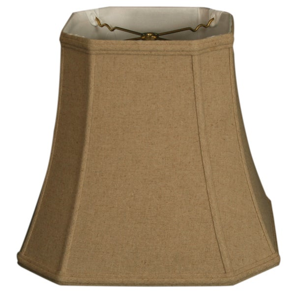 Royal Designs Square Cut Corner Basic Lamp Shade, Linen Cream, 8 x 12 x 11.5