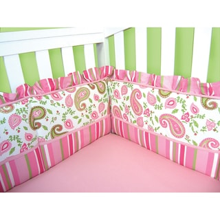 Trend Lab Paisley Park Pink Cotton Crib Bumpers