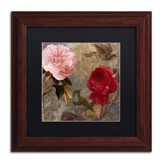 Color Bakery 'Bird and Roses' Matted Framed Art