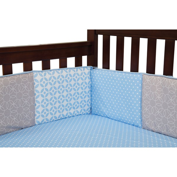 Trend Lab Boyu0026#x27;s Logan Blue Cotton Crib Bumpers