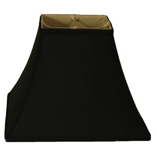 Royal Designs Square Bell Basic Lamp Shade, Black/Gold 8 x 16 x 12.5