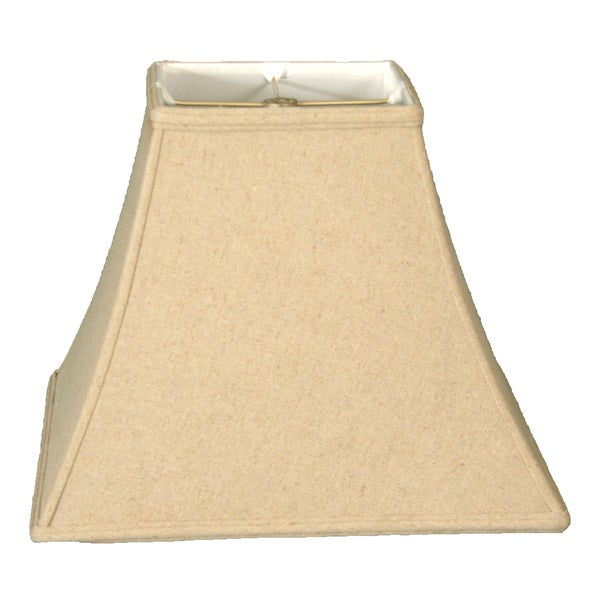 Royal Designs Square Bell Basic Lamp Shade, Linen Cream, 8 x 16 x 12.5