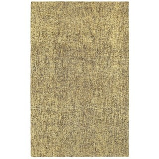 Style Haven Rustic Shades Boucle Grey and Gold Wool Handcrafted Area Rug (5' X 8') - 5' x 8'