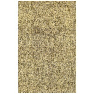 Style Haven Rustic Shades Boucle Grey and Gold Wool Handcrafted Area Rug - 5' x 8'