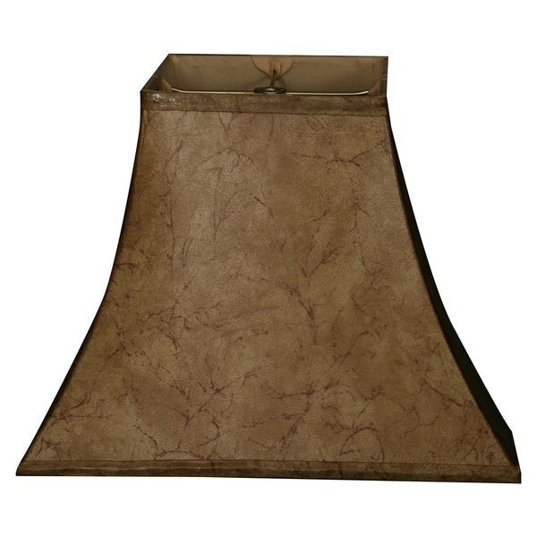 Royal Designs Square Bell Basic Lamp Shade, Faux Rawhide 8 x 16 x 12.5