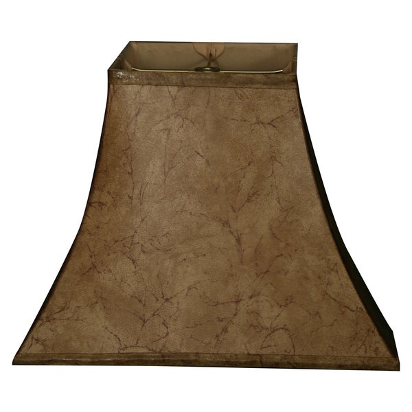 Royal Designs Square Bell Basic Lamp Shade, Faux Rawhide 7 x 14 x 11.5