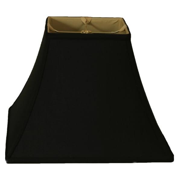 Royal Designs Square Bell Basic Lamp Shade, Black/Gold 7 x 14 x 11.5