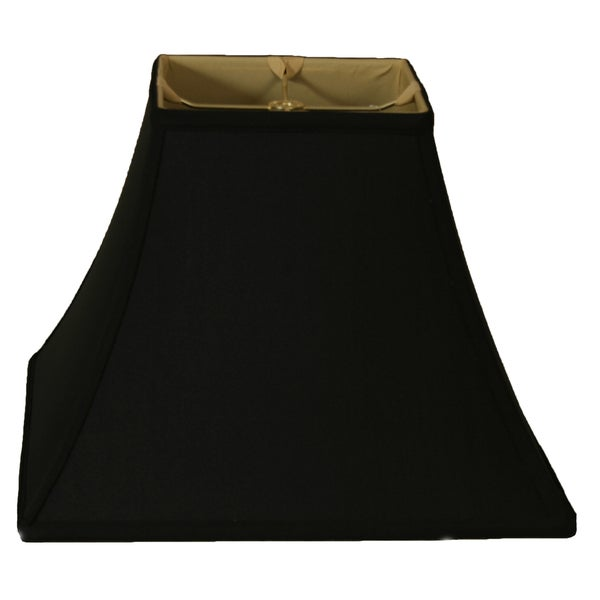 Royal Designs Square Bell Lamp Shade, Black, 7 x 14 x 11.5