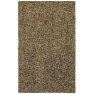 Style Haven Industrial Patina Boucle Brown/Multicolored Wool Handcrafted Area Rug (5' x 8') - 5' x 8'
