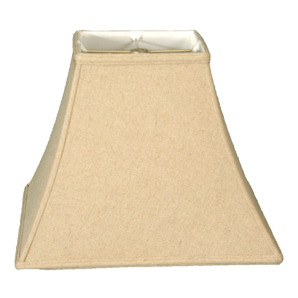 Royal Designs Square Bell Basic Lamp Shade, Linen Cream