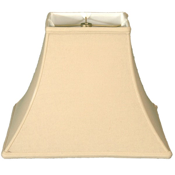 Royal Designs Square Bell Basic Lamp Shade, Linen Beige, 6 x 12 x 10.5