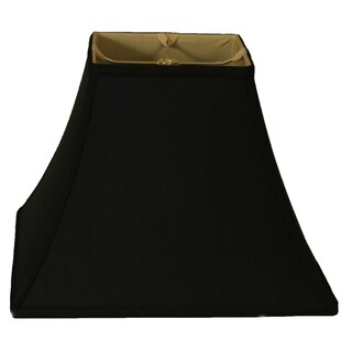 Royal Designs Square Bell Lamp Shade, Black, 6 x 12 x 10.5, BS-715-12BLK