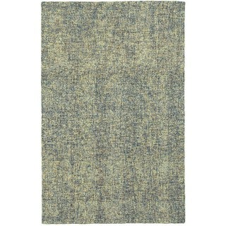 Style Haven Azure Boucle Blue/Green Wool Handcrafted Area Rug - 5' x 8'