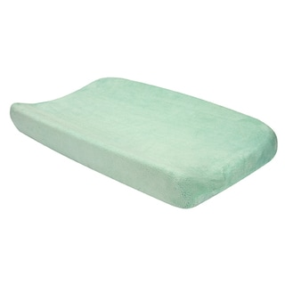 Trend Lab Mint Plush Changing Pad Cover