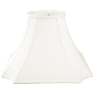 Royal Designs Square Inverted Cut Corner Basic Lamp Shade, White, 9 x 20 x 14