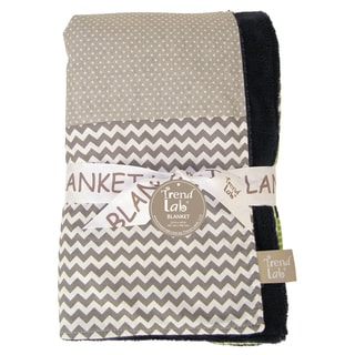 Trend Lab Perfectly Preppy Green Cotton Receiving Blanket