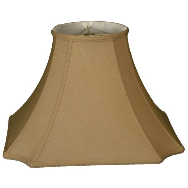 Royal Designs Square Inverted Cut Corner Basic Lamp Shade, Antique Gold, 8 x 18 x 13