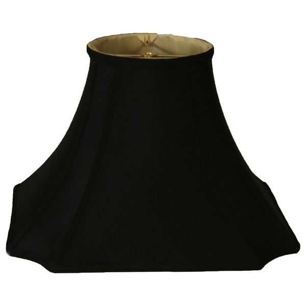 Royal Designs Inverted Corner W Round Top Lamp Shade, Black, 7 x 16 x 11.5