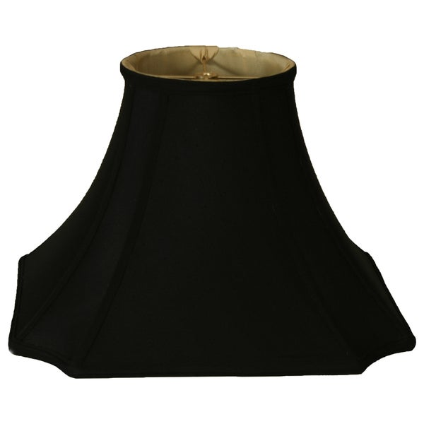 Royal Designs Square Inverted Cut Corner Basic Lamp Shade, Black/Gold 6.5 x 13.5 x 10.5