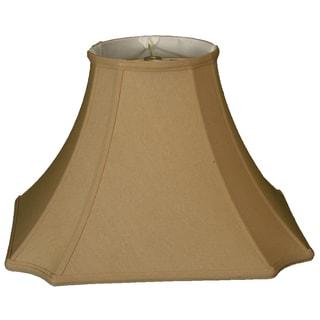 Royal Designs Square Inverted Cut Corner Basic Lamp Shade, Antique Gold, 7 x 16 x 11.5