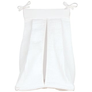 Trend Lab Pique White Cotton Diaper Stacker