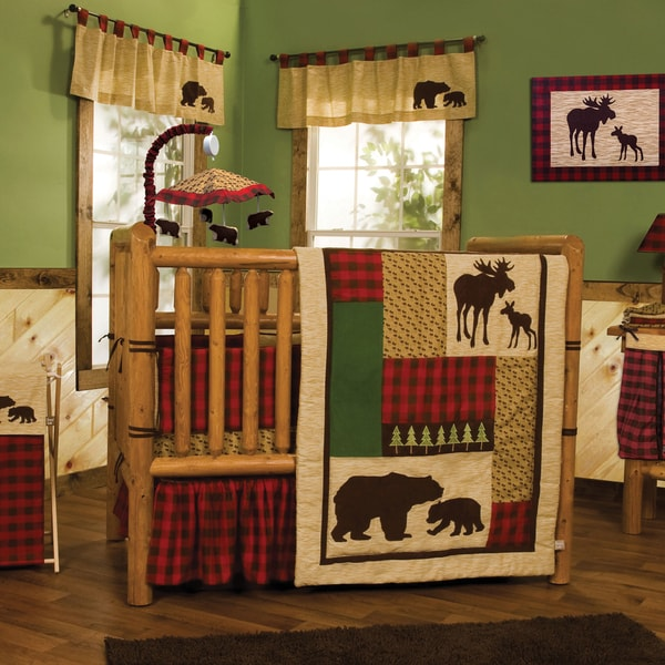 Northwoods 3-Piece Buffalo Check Crib Bedding Set