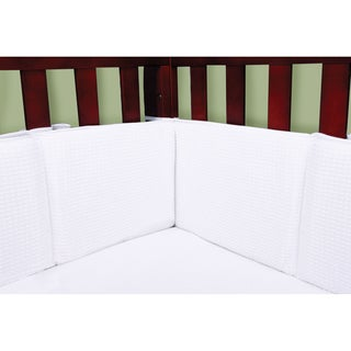 Tren Labe White Cotton Pique Crib Bumper