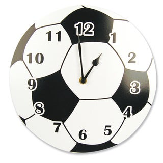 White Soccerball Wall Clock