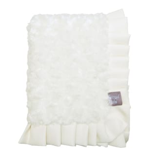 Trend Lab Rosette Cream Receiving Blanket