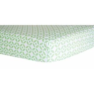 Trend Lab Lauren Lattice Green/Multicolor Cotton Fitted Crib Sheet