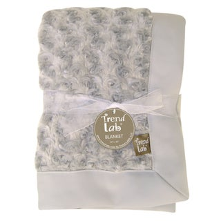 Trend Lab Grey Rosette Receiving Blanket