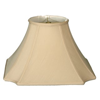 Royal Designs Square Inverted Cut Corner Basic Lamp Shade, Beige, 6 x 12 x 9.5