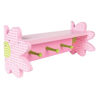 Trend Lab Darling Daisy Pink Wood Wall Shelf