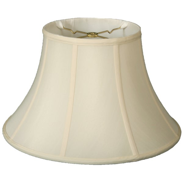 Royal Designs Shallow Bell Basic Lamp Shade, Eggshell, 6 x 13 x 8.5