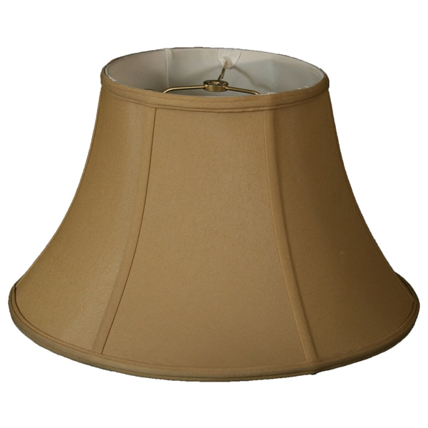 Royal Designs Shallow Bell Basic Lamp Shade, Antique Gold, 6 x 13 x 8.5