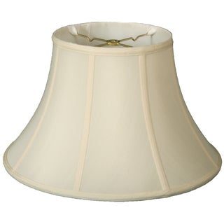 Royal Designs Shallow Bell Basic Lamp Shade, Eggshell, 9 x 18 x 12