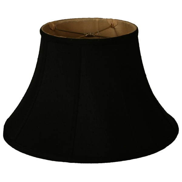Royal Designs Shallow Bell Basic Lamp Shade, Black/Gold