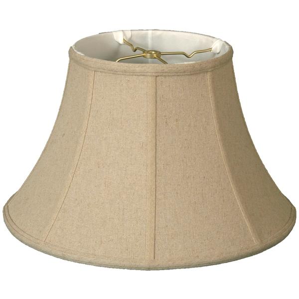 Royal Designs Shallow Bell Basic Lamp Shade, Linen Cream, 8.5 x 16 x 10.25