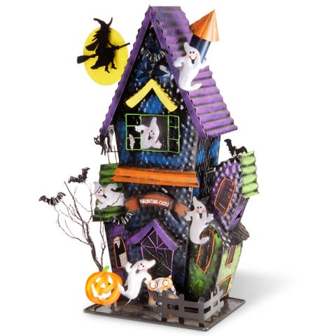 National Tree Company Metal 27-inch Haunted Castle Decoration