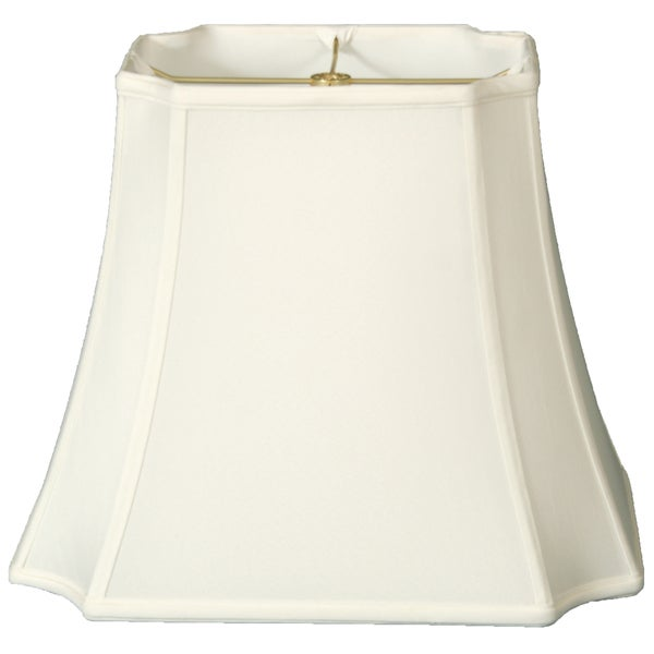 Royal Designs Rectangle Inverted Cut Corners Lamp Shade, White, 9.5 x 11.5 x 15 x 19 x 14