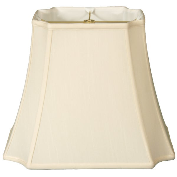 Royal Designs Rectangle Inverted Cut Corners Lamp Shade, Eggshell, 9.5 x 11.5 x 15 x 19 x 14