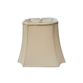 Royal Designs Rectangle Inverted Cut Corners Lamp Shade, Beige, 6.25 x 8.25 x 8 x 11 x 8.75