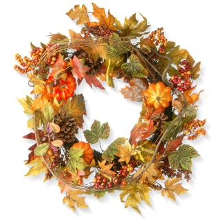 24-inch Decorated Maple Leaf Wreath