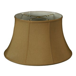 Royal Designs Shallow Drum Bell Billiotte Lamp Shade, Antique Gold, 13 x 19 x 11.26, BS-711-19AGL