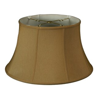 Royal Designs Shallow Drum Bell Billiotte Lamp Shade, Antique Gold, 11 x 17 x 11, BS-711-17AGL