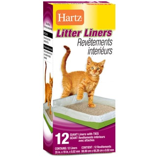 "Hartz 35"" X 19"" Giant Litter Liners With Ties 12 Count"